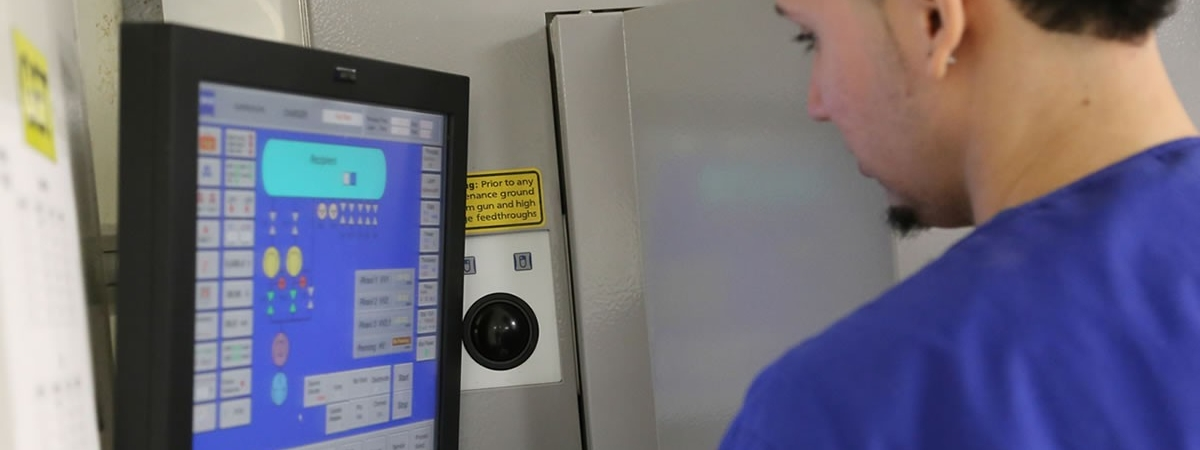 picture of lab tech at AR controls